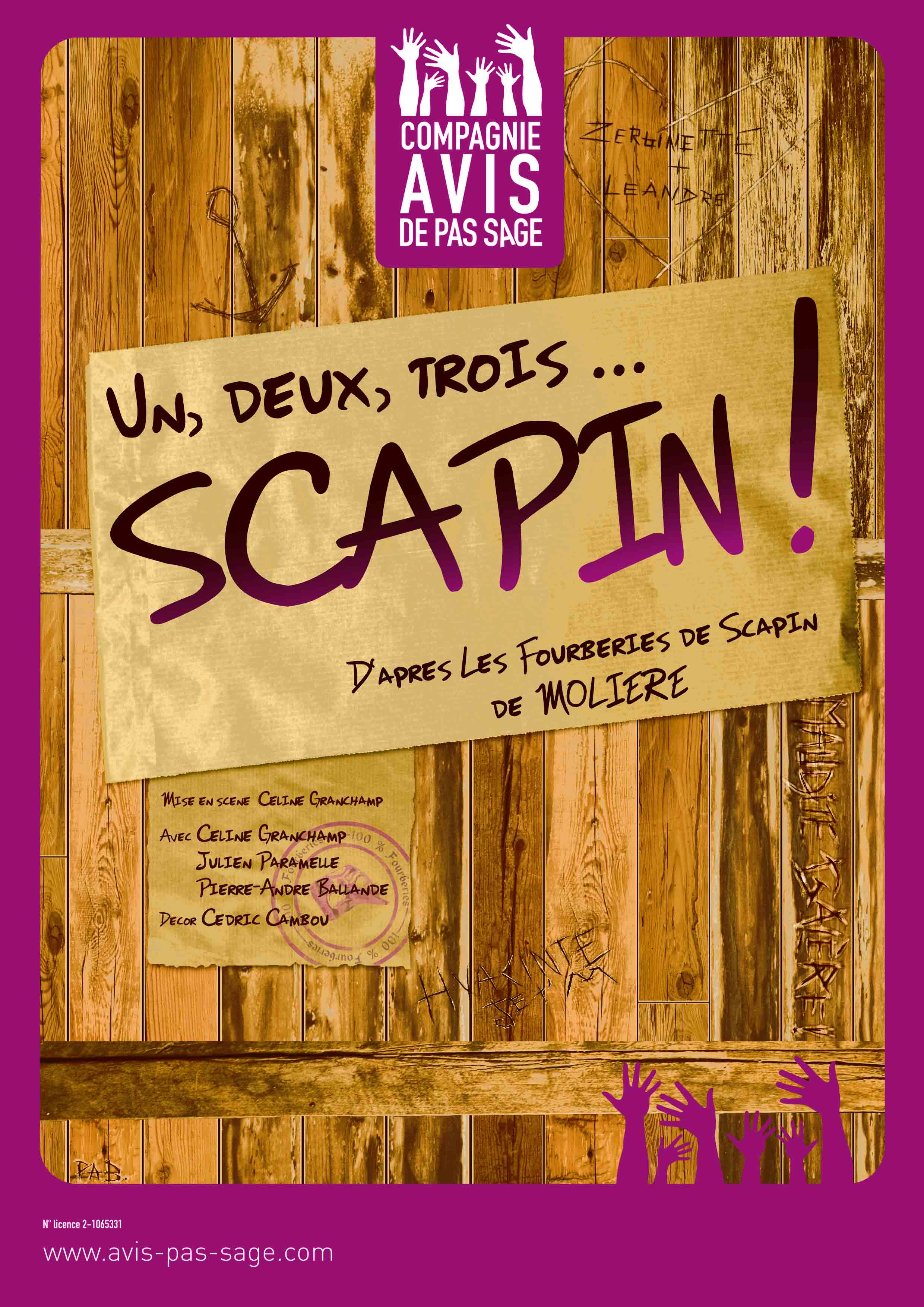 Affiche Scapin