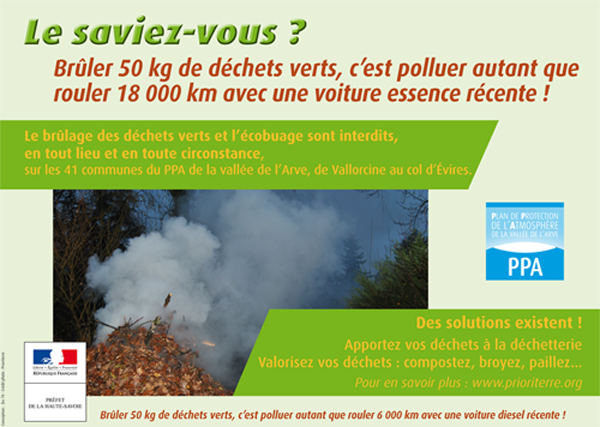 Interdiction de bruler les dechets verts