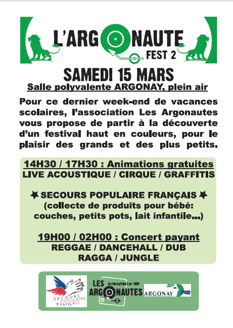 Animations Association l'Argonaute le 15 mars 2014